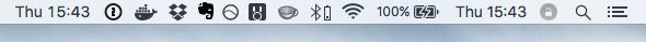 Screenshot: Time menu bar item